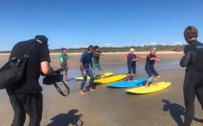 Bain de forêt et surf sur le littoral avec des résidents du Clos Adler à Valdivienne (86)